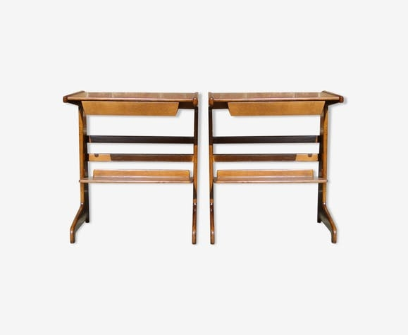 Paire de tables de chevet de David Rosén circa 1960 KUBENKA